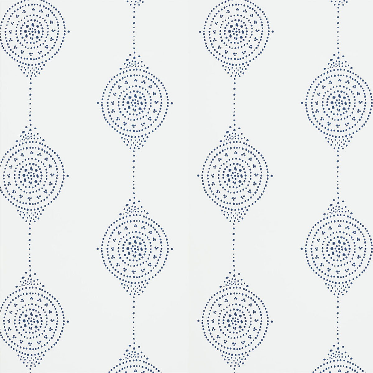Wallpaper with a feminine design in navy and white. photo