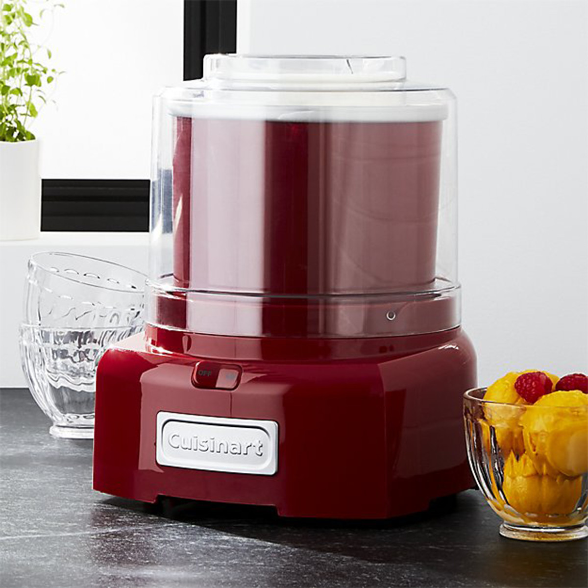 Red and white ice cream maker by Cuisinart photo