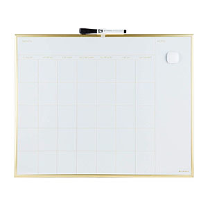 Magnetic monthly calendar with gold aluminum frame from Amazon photo