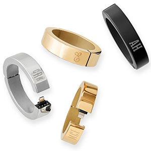 Charging bracelets in gold, black, and silver from Mark and Graham photo