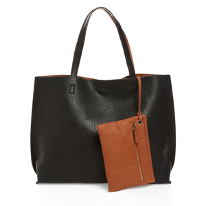 Leather black bag with brown wristlet from Nordstrom photo