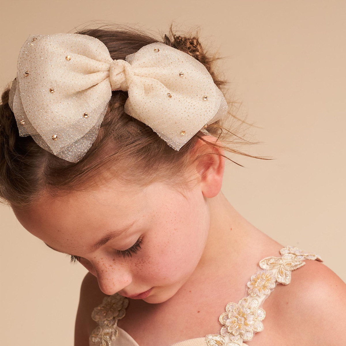Girl wearing a bow photo