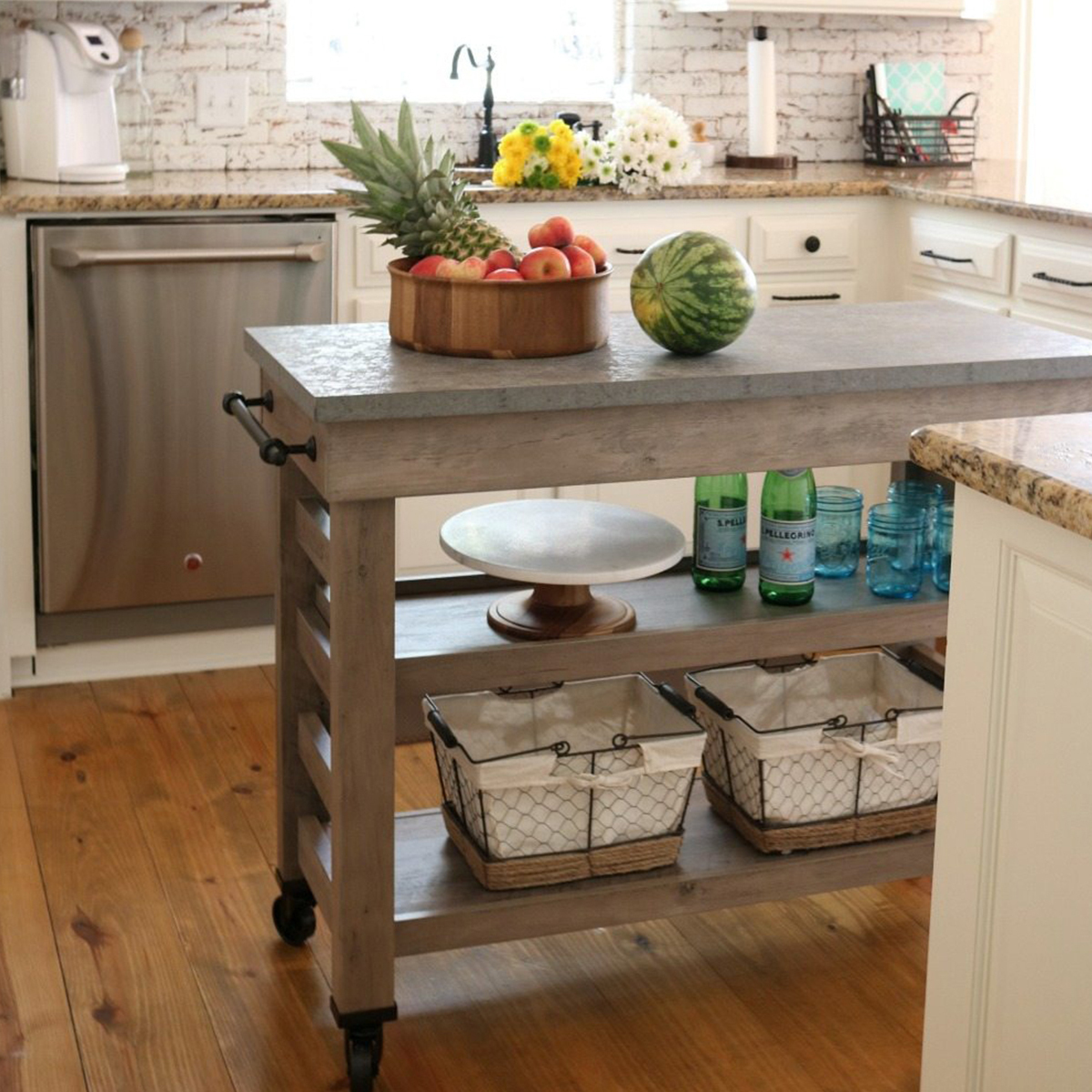 Real innovation comes from the versatility of the Modern Farmhouse Multi-Purpose Cart and the trendy Acacia Bowl. photo