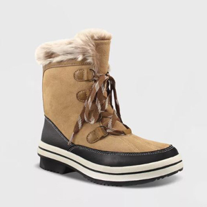Microsuede winter boots from Target photo