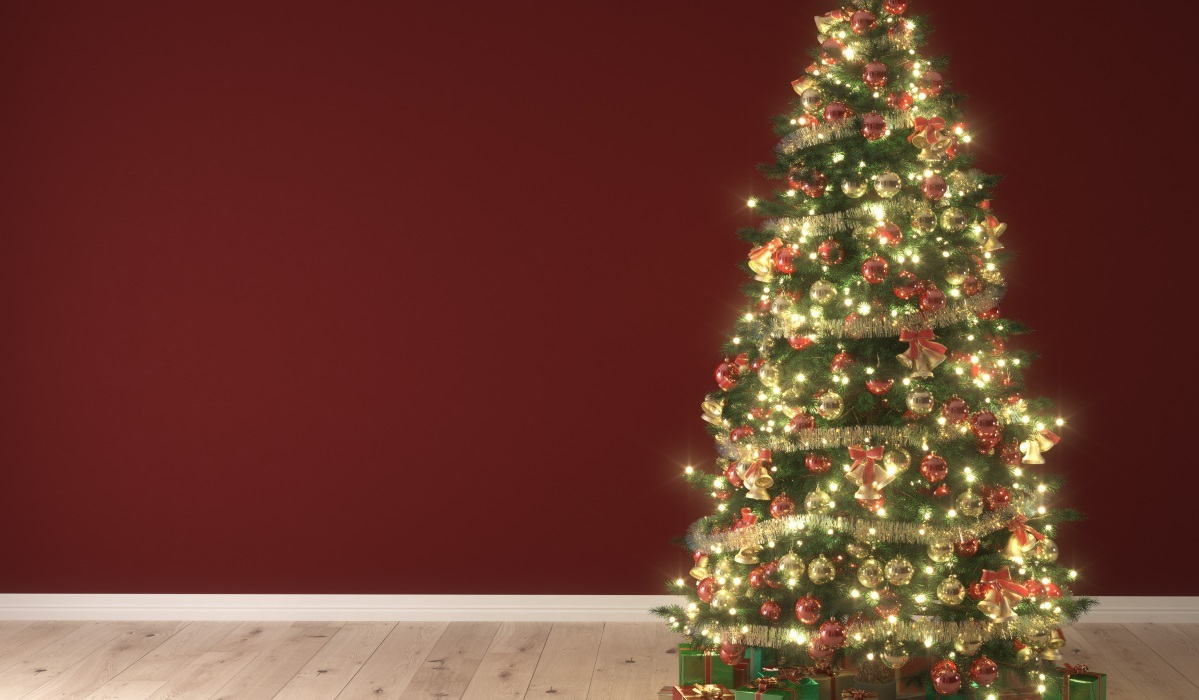 If you'd prefer not to deal with strings of tangled lights, consider buying a pre-lit artificial Christmas tree.