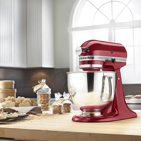 Overstock KitchenAid Stand Mixer in red photo