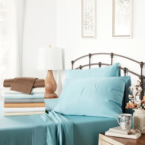 Overstock bamboo sheet set in blue photo