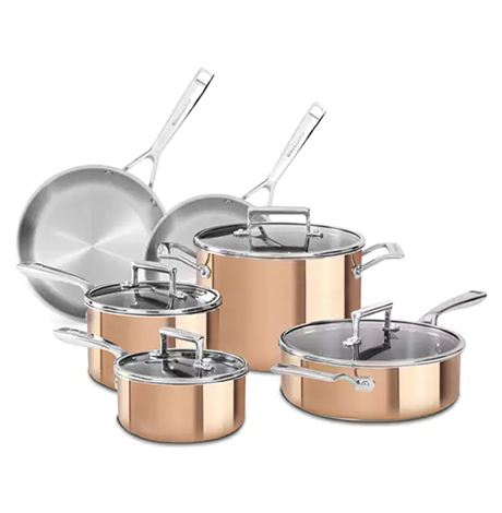 Overstock copper cookware set by KitchenAid photo