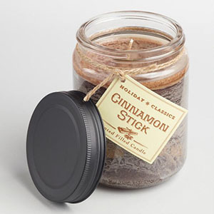 Cinnamon stick scented candle photo