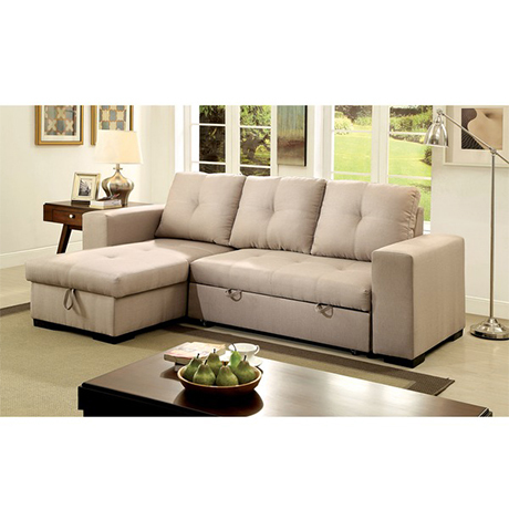 Reversible Sectional with Pull-Out Sleeper photo
