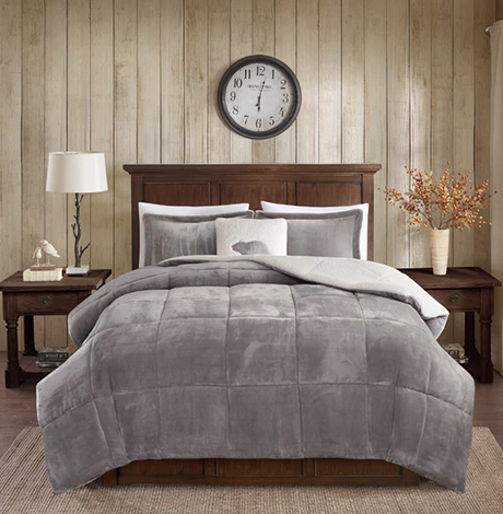 Woolrich Alton Sherpa Comforter Set with Decorative Pillow photo