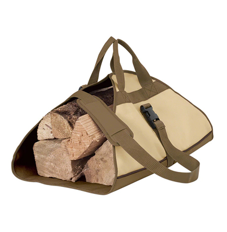 Beige with army green handles log carrier photo