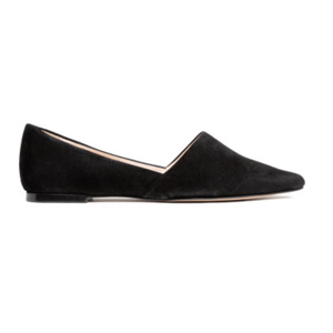 black pointed-toe flat from h&m photo