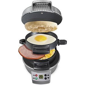 Hamilton Beach Breakfast Sandwich Maker with Count Down Timer photo