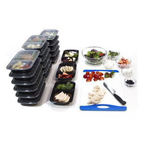 32-Ounce Two-Compartment Meal-Prep Containers photo