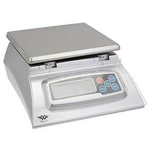 Digital kitchen scale in stainless steel photo