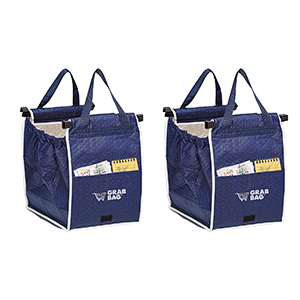 Navy blue insulated reusable tote bags photo