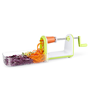 Vegetable spiralizer with food-catching container photo