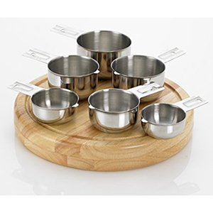 6-piece measuring cup set in stainless steel photo