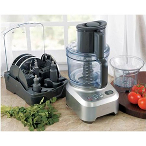 Stainless steel food processor by Breville photo