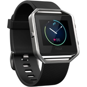 Black Fitbit Blaze activity tracker and smart watch photo