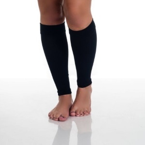 Footless calf compression socks in black photo