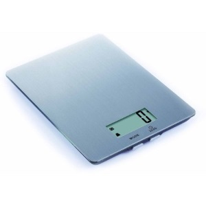Silver digital scale with LCD display photo