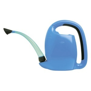 Blue compact watering can with long spout photo
