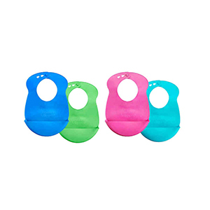 Tommee Tippee drip catcher bibs in four colors from Bed Bath & Beyond photo