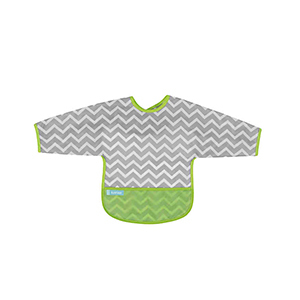 Kushies Chevron Cleanbib with sleeves in green photo