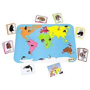 Teach My Toddler Continents & Animals Floor Puzzle photo