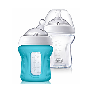 Chicco Naturalfit Glass Bottle with Silicone Sleeve 2-Pack photo