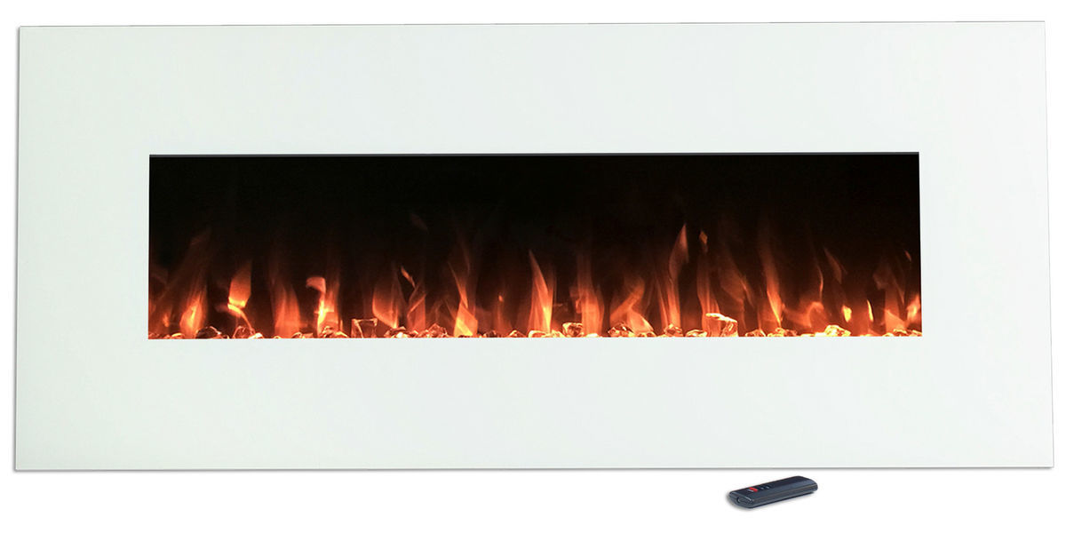 Electric fireplace insert that's able to be mounted to the wall photo