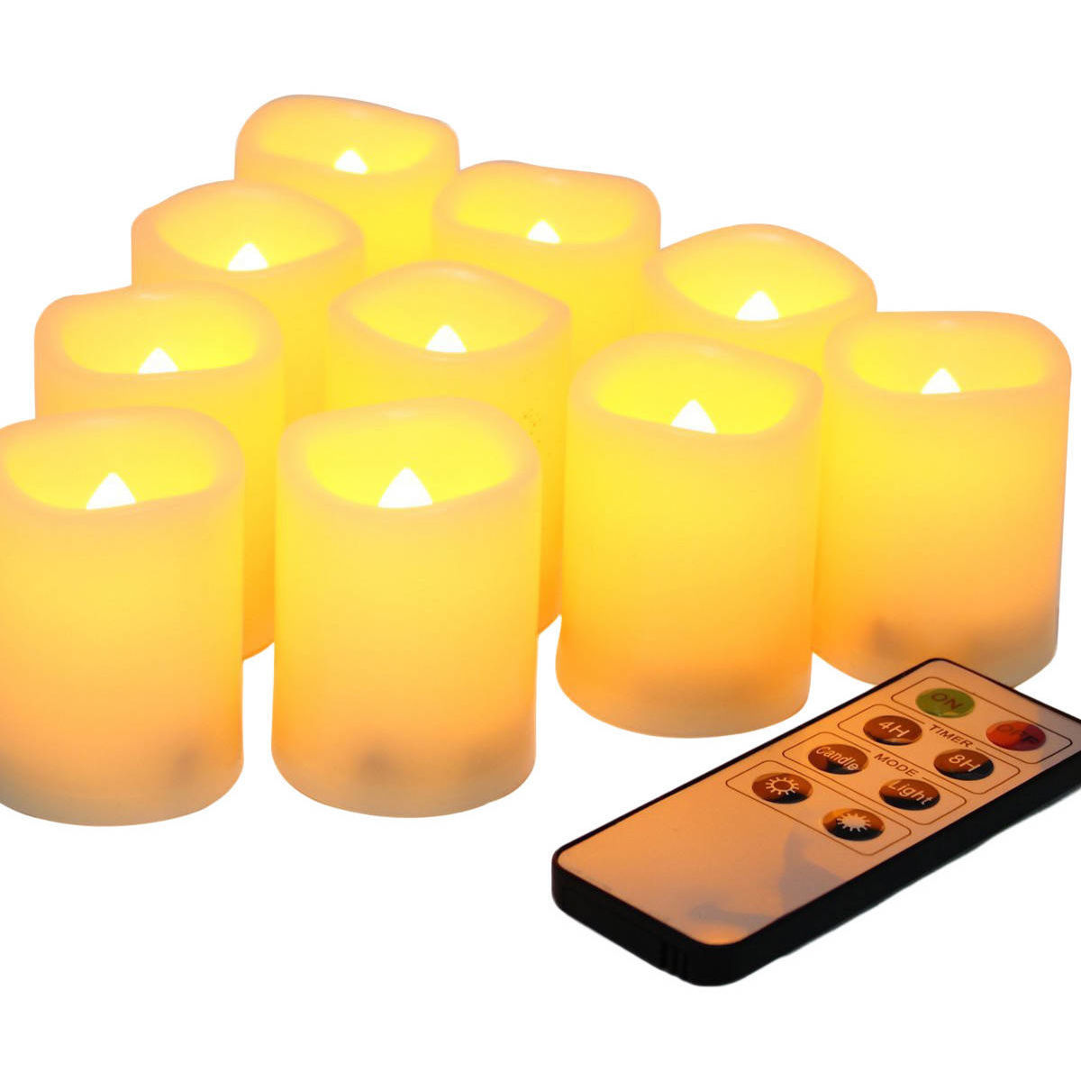 LED flameless candles with a remote control photo