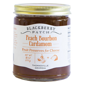 Blackberry Patch Peach Bourbon Cardamom Fruit Preserves for Cheese photo