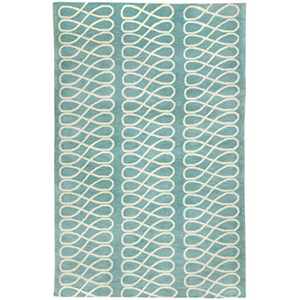 Loop Light Blue Rug by Cococozy photo
