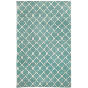 Fence Lt. Blue Rug by Cococozy photo