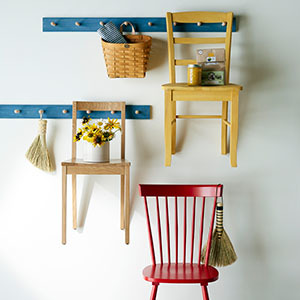 Pegboards with Chairs: Pine Shaker Pegboard photo