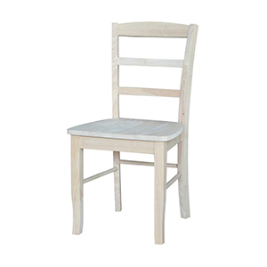 Unfinished Ladder-Back Dining Chairs (Set of 2) photo