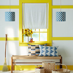 Window/Bench Seat Image: DIY Lampshade photo