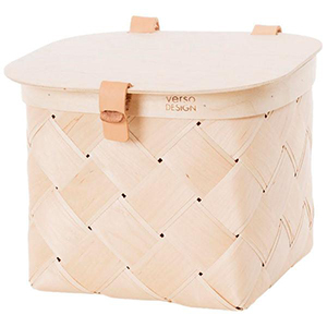 Verso Lastu Birch Basket with Lid photo