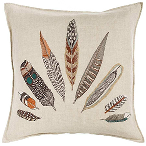 Coral & Tusk Plumes Fan Pillow photo