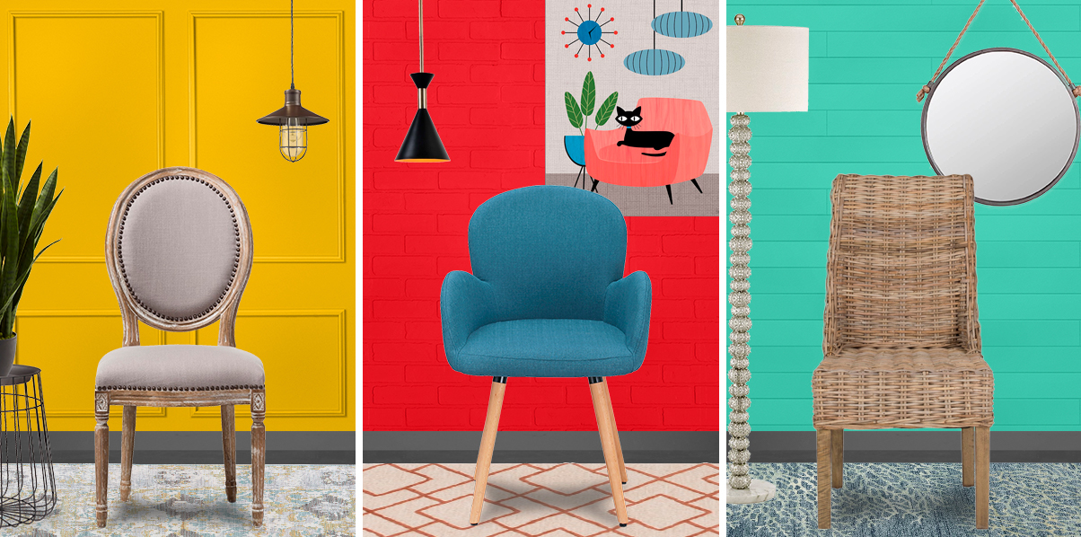 Three accent chairs from Overstock photo