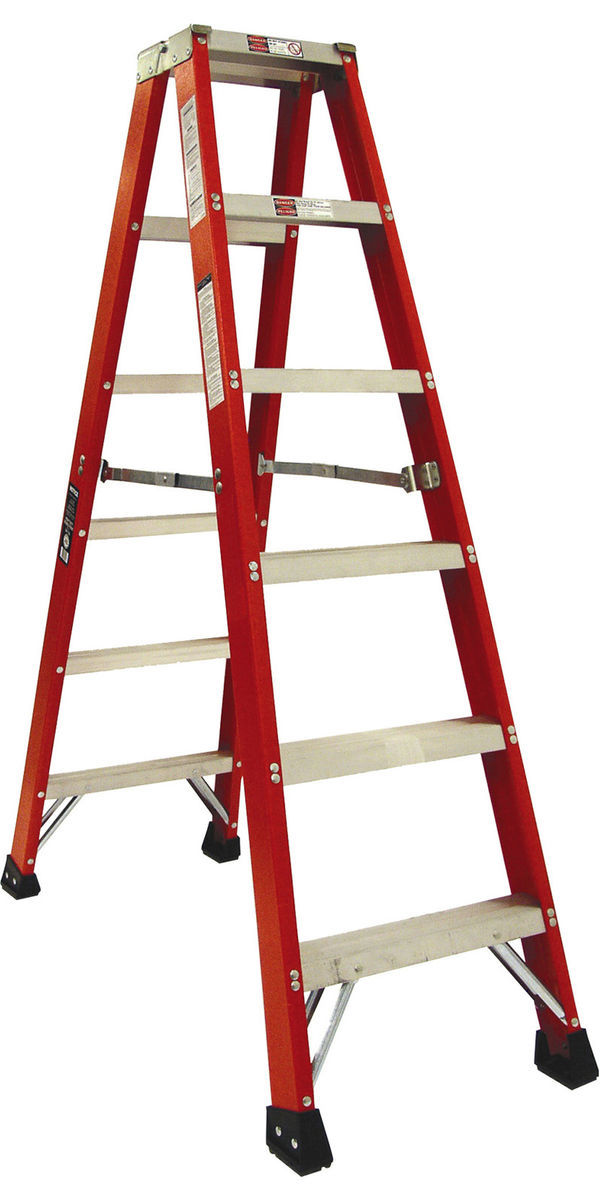 Houzz red ladder with double front photo
