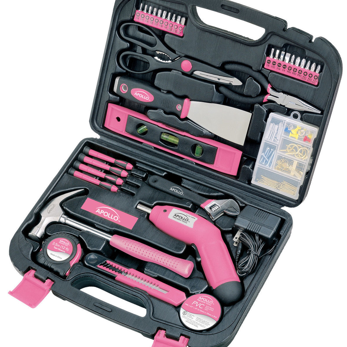 Houzz 135-piece tool kit in pink photo