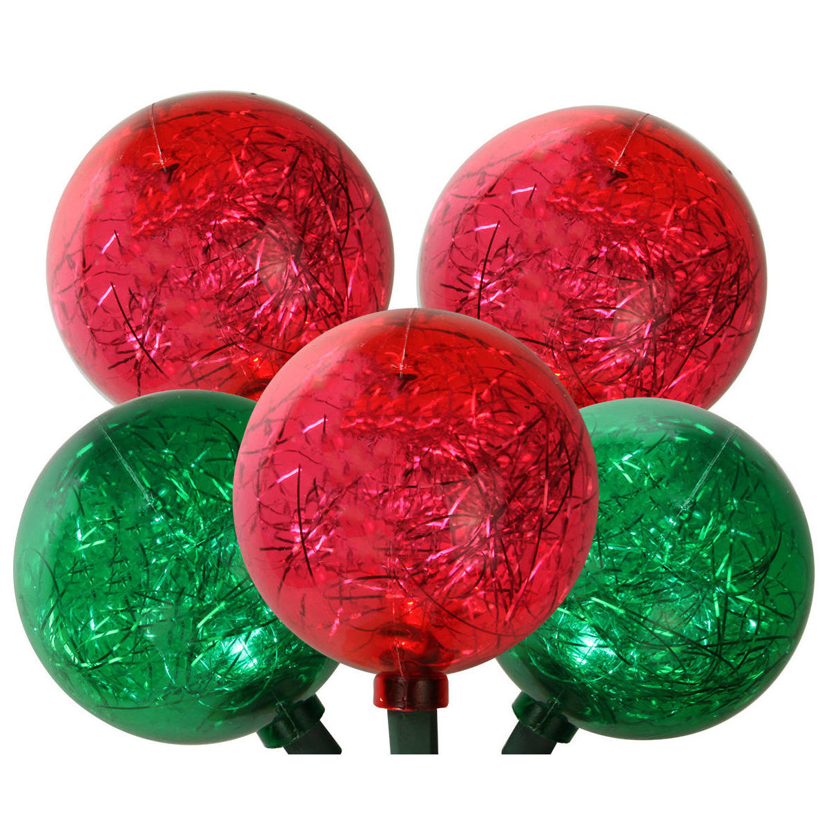 Red and green LED christmas lights photo