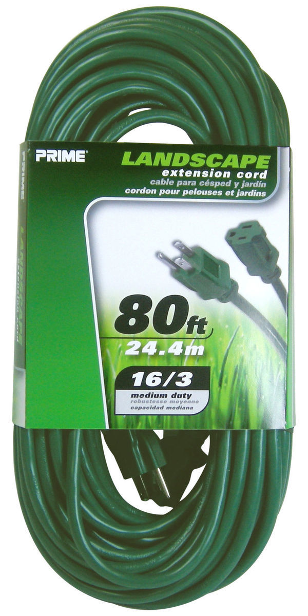 Houzz outdoors extension cord in green photo