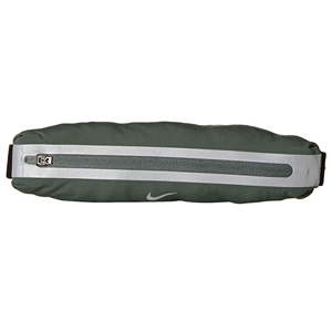 Thin black Nike running belt with gray accents photo
