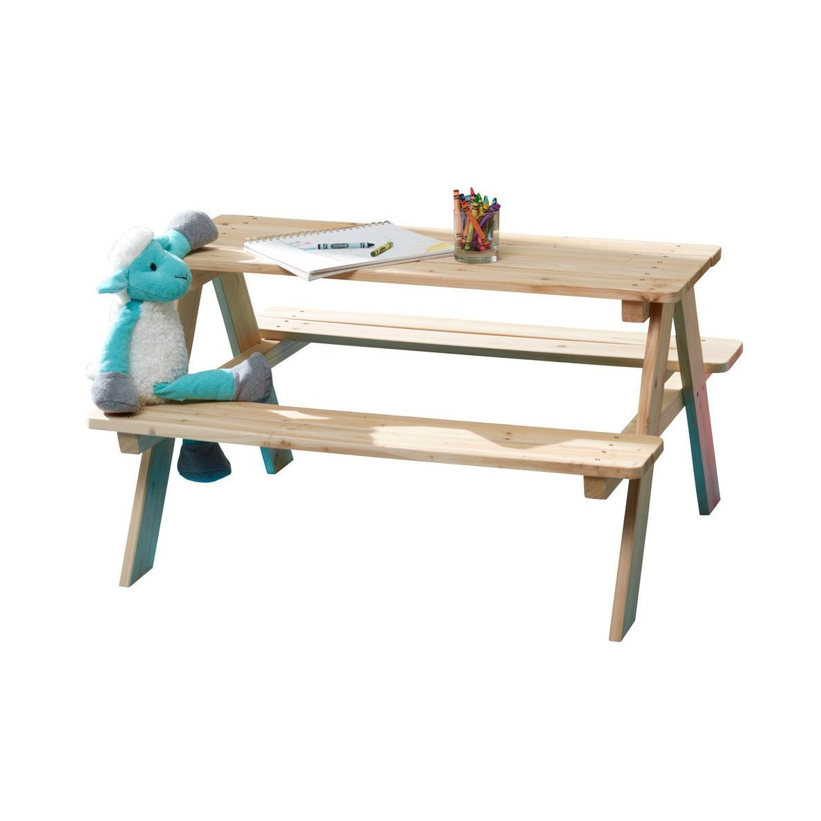 Wooden Kids' Picnic Table photo