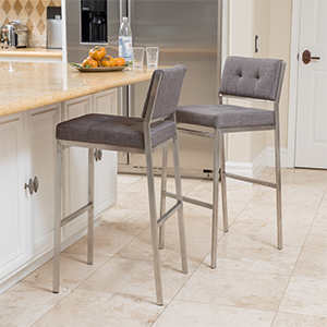 Uphostered barstools from Overstock photo